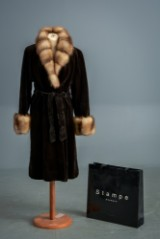 Fur coat, sable, edged in fox, from Levinsky, approx. size 40