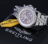 Breitling 'Bentley 6.75'. Oversize men's chronograph, steel, with bronze dial, c. 2009
