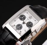 Baume & Mercier 'Hampton'. Men's chronograph, steel with white dial, c. 2012