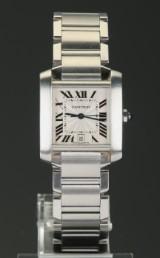 Cartier 'Tank Française' men's watch, steel