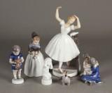 B&G og Kgl. figurer, porcelæn (8)