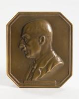 Hugo Kaufmann, Plakette mit Reliefportrait von Max Liebermann