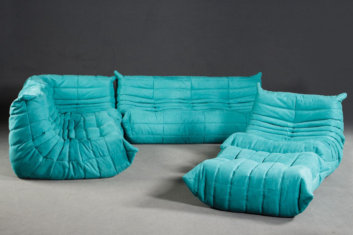 Auktionstipset Michel Ducaroy Togo Suite 5er Set In Blau Für