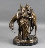 Albert Moritz Wolff. Bronze sculpture, Bedouin by his camel