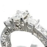 Diamond ring, 14 kt. white gold, 1.04 ct.
