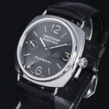 Panerai 'Radiomir Black Seal' men's watch, steel, black dial, 2000's