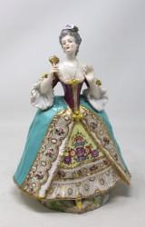 Figur aus der Manufaktur Meissen, 'Rokoko Dame mit Spiegel'