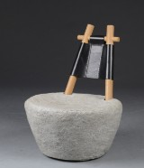 Sofie Østerby. 'Juu' easy chair, concrete, leather and oak, cd