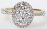 Brilliant-cut diamond ring from FHP, 14 kt. gold, 1.0 ct.
