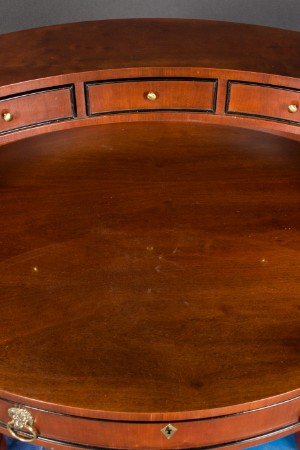 schreibtisch oval mahagonifurnier von century. Black Bedroom Furniture Sets. Home Design Ideas