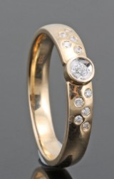 Diamond ring in gold approx. 0.12ct