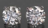 Øreringe i 18kt hvid rhod guld med brillantslebne diamanter ca 0.98ct