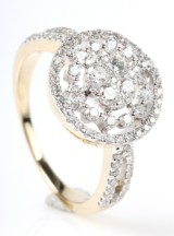 Diamond ring from FHP, 14 kt gold, approx. 0.77 ct.