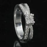 18kt diamond ring approx.0.27ct