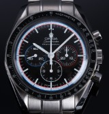 Omega 'Speedmaster Apollo 15'. Men's chronograph, steeål med sort skive, ca. 2005