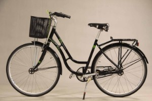 ECO2. Sort unisex cykel. Model Retro - Dk, Herning, Engdahlsvej - ECO2. Sort unisex cykel. Model 'Retro'. Stel, styr og forgaffel i genanvendeligt aluminium. Miljøvenlig lakering. Shimano Nexus 7 gear. Fælgbremser for, fodbremse bag. 28'' Hjul. Sadel og håndtag af sort læder. Stelstørrels - Dk, Herning, Engdahlsvej