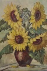 Blumenstillleben, Öl auf Leinwand