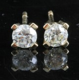 Earrings in 18k set with brilliant cut diamonds 0.66 ct