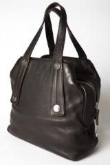 Chanel-taske, taske af brunt læder med hanke