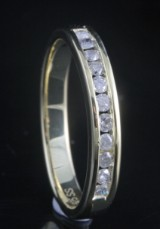 Goldplated diamond ring approx. 0.25ct