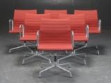 Charles Eames. Sæt på seks armstol, model EA 107 (6)