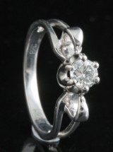 18kt diamond ring approx. 0.30ct