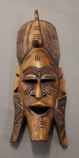 Afrikanische Holzmaske