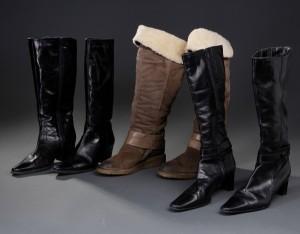45abb88c7e7 Tre par støvler, læder og ruskind, str. 40-41 3