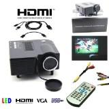 Digital LED Projector til smartphone via medfølgende MHL kabler
