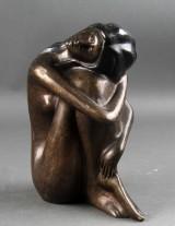 Figur af bruneret bronze
