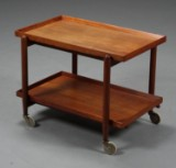 Poul Hundevad. Serving table/tray table, teak