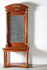 Spegel med konsoll, empirestil omkring 1900. (2)