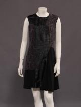 Stella McCartney sort silke kjole med mønster, str. 34