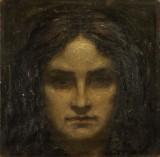 Ubekendt kunstner. Portræt af ung kvinde, olie på lærred, 1903