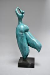 Bronzefigur i form af dansende kvinde