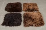 Holländska fårskinn, 4 st i bruna nyanser (4)