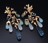 Ole Lynggaard. 'Gipsy' diamond earrings, 18 kt. gold (2)