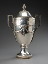 Large German silver trophy with lid, c. 1906-1912