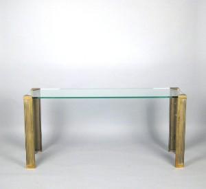 Eckschreibtisch glas  Peter Ghyczy, großer Konsoltisch Schreibtisch in Messing und Glas ...