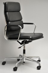 Charles Eames. Office chair, model EA-219, leather