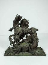 Okänd konstnär, skulptur i brons, bataljscen