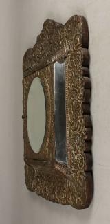 Entreskab med spejle, patineret messing