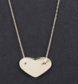 Necklace with heart motive in 14k