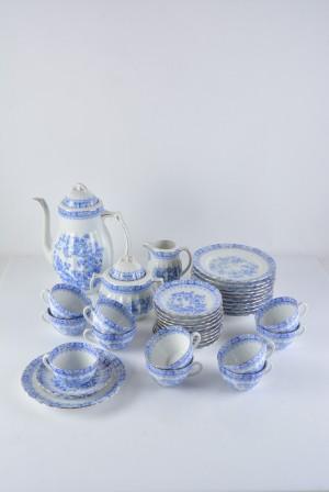 0111e210 Kaffeservis, 'Blau China' Tyskland (36) | Lauritz.com
