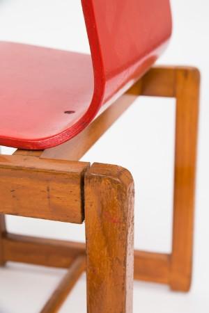 3 kinderst hle holz rot und gr n 3. Black Bedroom Furniture Sets. Home Design Ideas