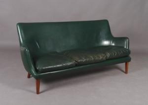 Arne Vodder Sofa I Grønpatineret Skind Click Here To See A Larger Picture