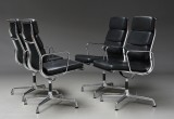 Charles Eames. A set of four Soft Pad armchairs, Model EA-209 (4)