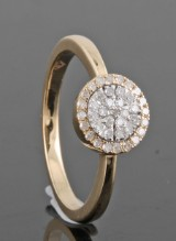 Diamond ring in gold approx., 0.20ct.