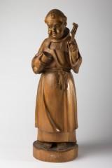 Holzfigur Mönch, Skulptur, Holz