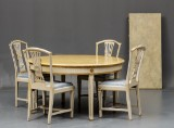 Louis XVI dining table and four chairs, etc. Louis XVI 18th century and 19th century (12)